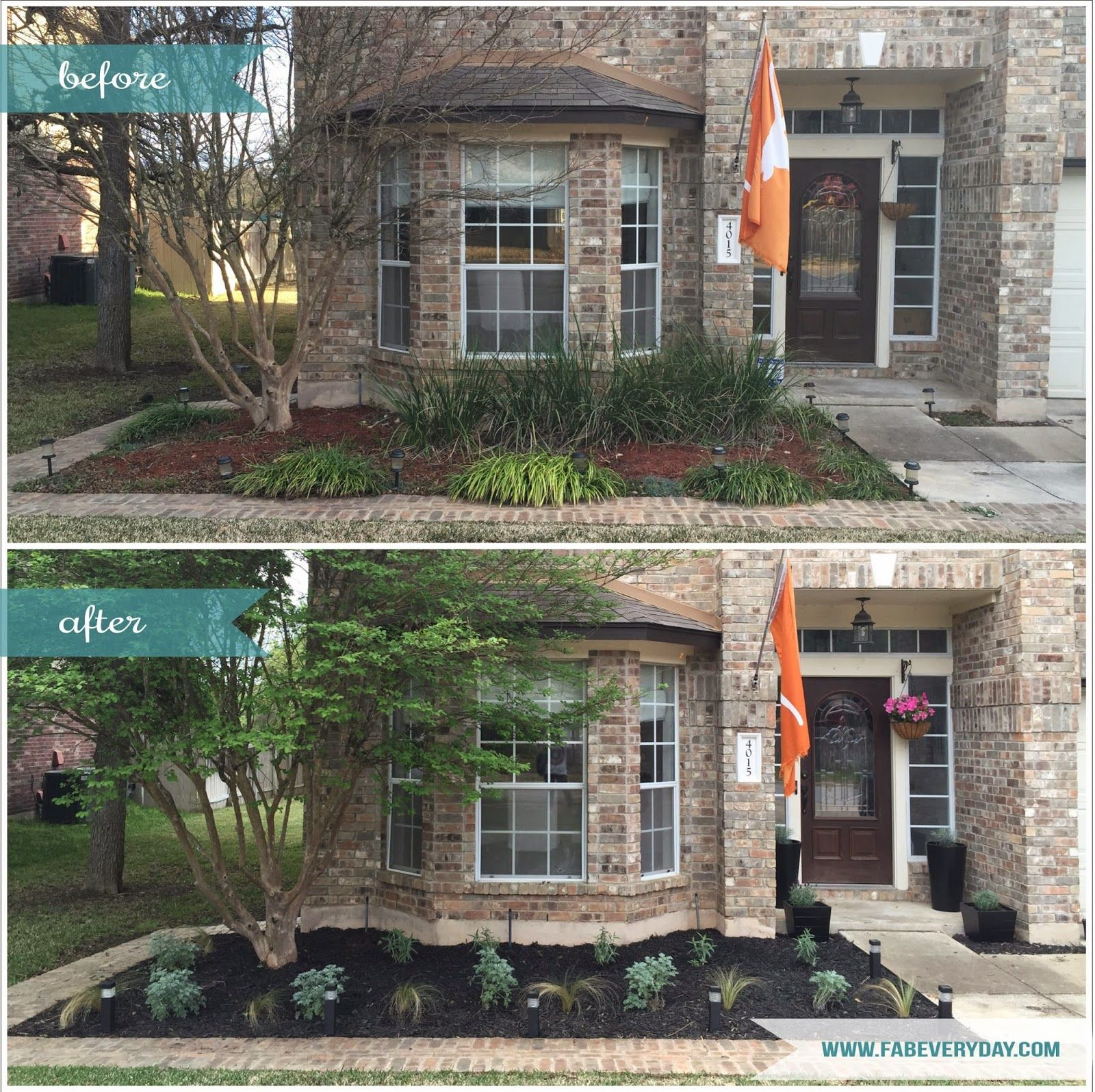 Before and after central texas front yard garden makeover for Garden makeover