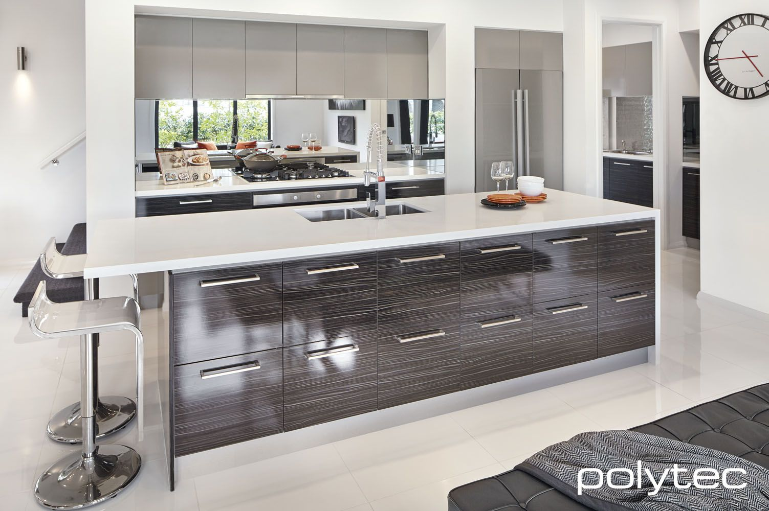 Polytec Modern Kitchen Design Kitchen Cabinets Painted Grey Trendy Kitchen Backsplash
