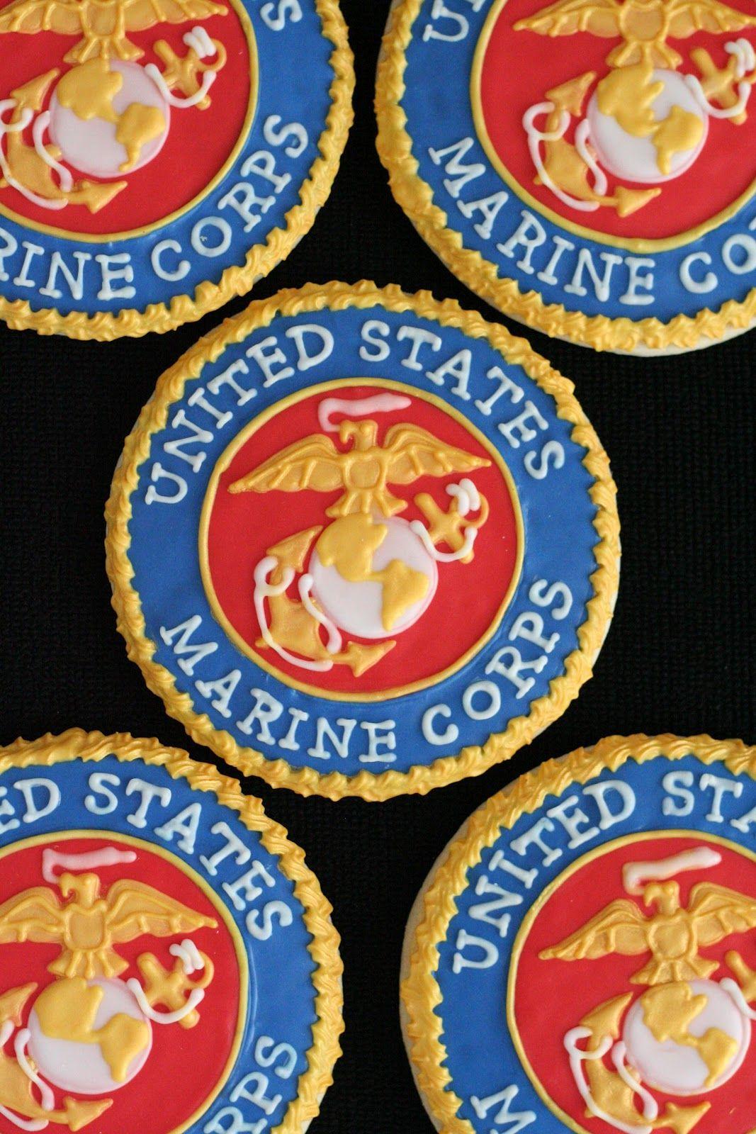 United States Marines...AND cookies! Patriotic cookies