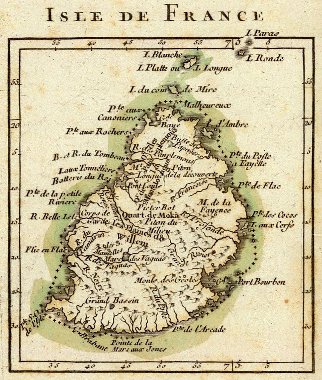 Historical Map of Mauritius Mauritian Life Pirates and