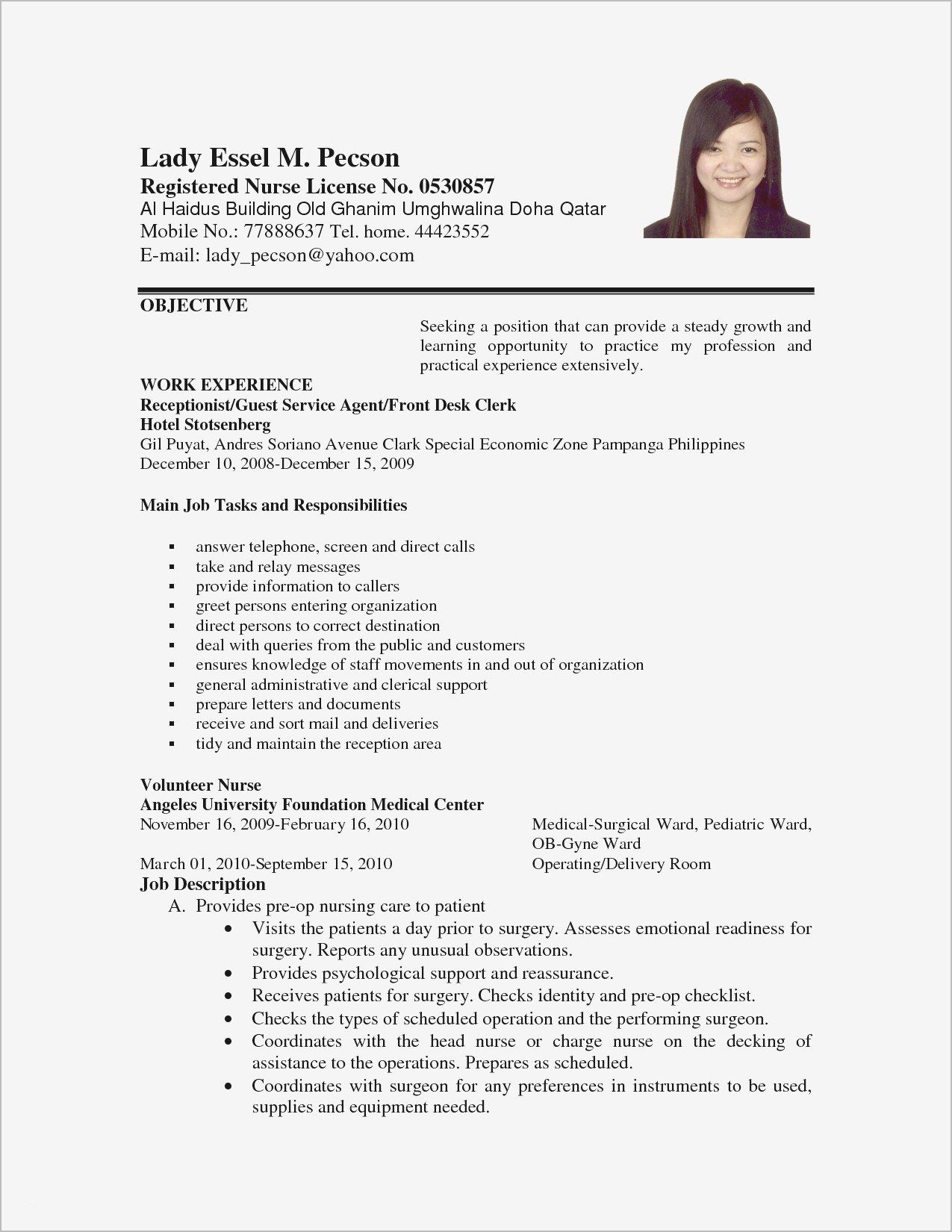 Bartender Resume No Experience New Bartender Job Description For Resume Best Bartender Re Job Resume Examples Cover Letter For Resume Resume Objective Examples
