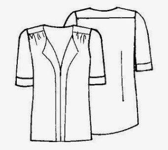 Mujeres y alfileres: Molde de blusa de gasa para descargar gratis