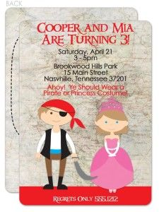 Pirate and princess party invitations printable party pinterest pirate and princess party invitations printable filmwisefo Choice Image