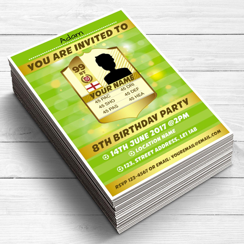 15 FIFA FUT Invitation, Boys & Girls Birthday Party Invitations ...
