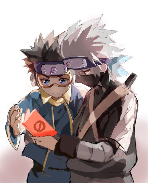 First Time Anime Porn - Obito and Kakashi's first time reading porn