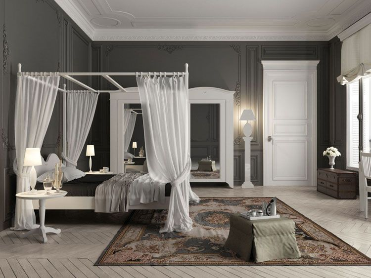 Camera da letto in stile shabby chic n.39 | A• Bedroom • Canopy ...