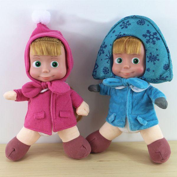새로운 러시아어 마샤와 곰 봉제 장난감 아기 어린이 봉제 동물 인형 아이 선물 주식