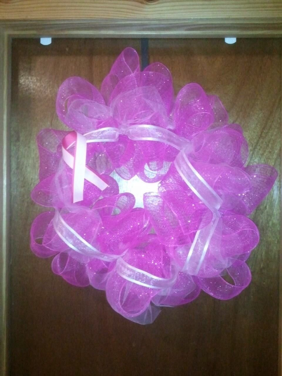 Awareness Wreath for the Mammography Dept at my hospital