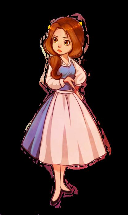 Cute Young Belle Disney Disney Princess Belle Disney Fan Art