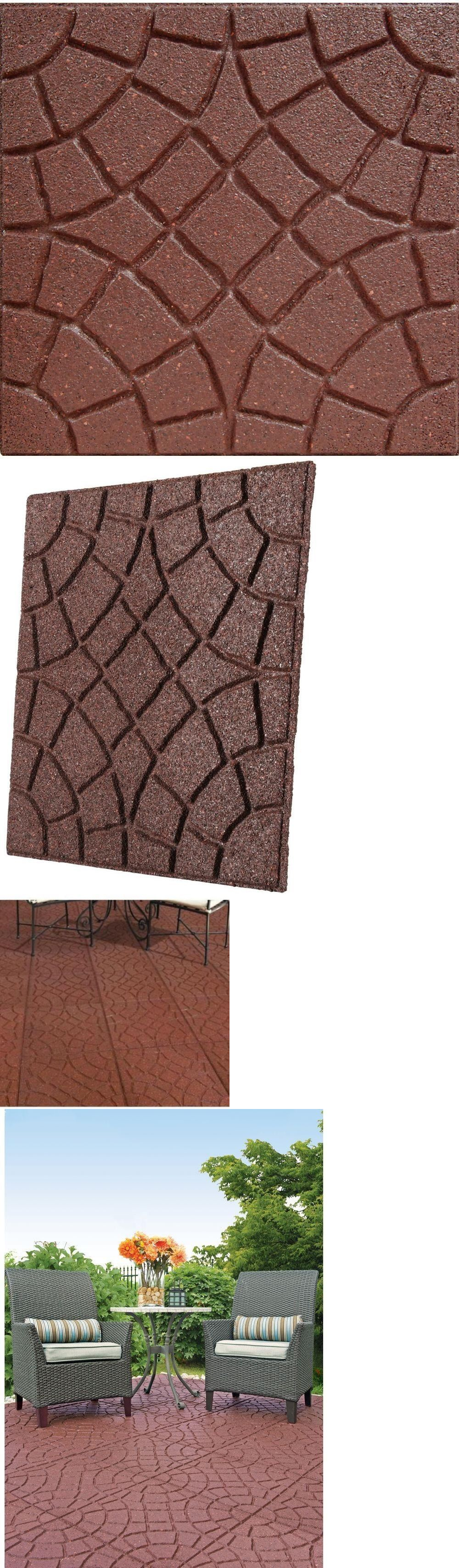 Pavers and Step Stones 4 Pack 18 Square Decorative Rubber