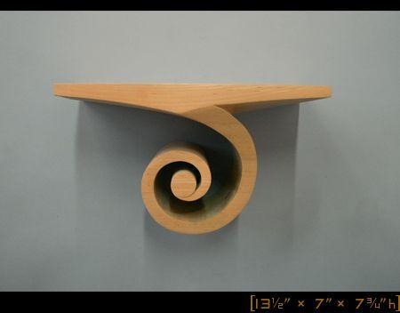 Spiral Shelf [ 13½″ ×  7″×  7¾″ h ]