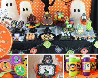 halloween party printable halloween by amandaspartiestogo on etsy