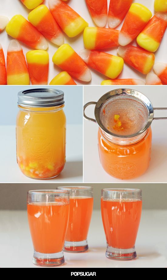 Get in the Spooky Spirit With Candy Corn Vodka ***its like rubber-necking on the interstate....you shouldn't do it, but u just can't help it!! I have a sickening sweet feeling this is gonna b nasty, but I'll letcha know;)
