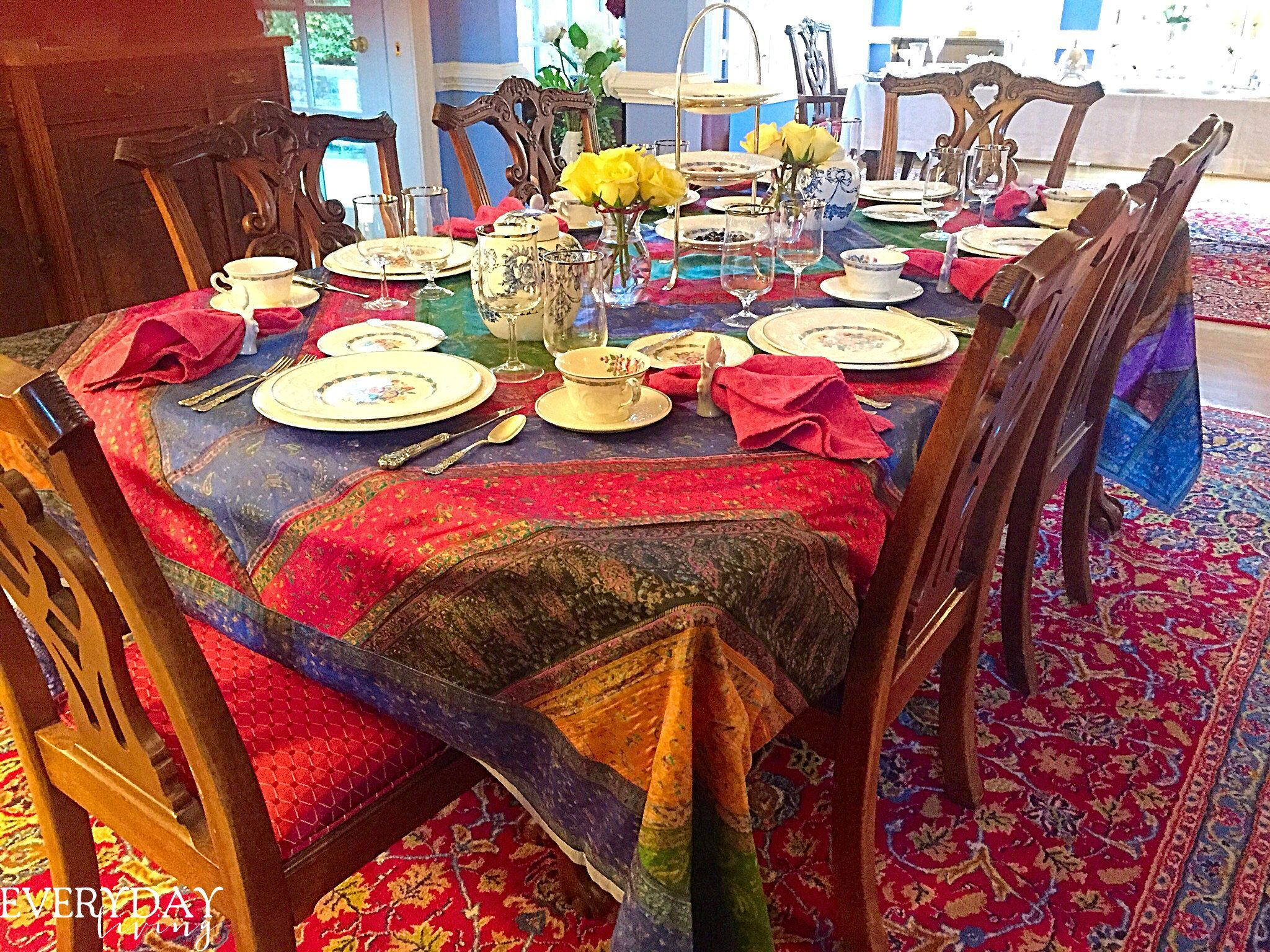 Tablescape Tuesday: Morning Glories   Everyday Living