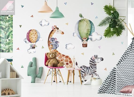 Wall Decal For Kids Tropics Giraffe Big Set Stickers