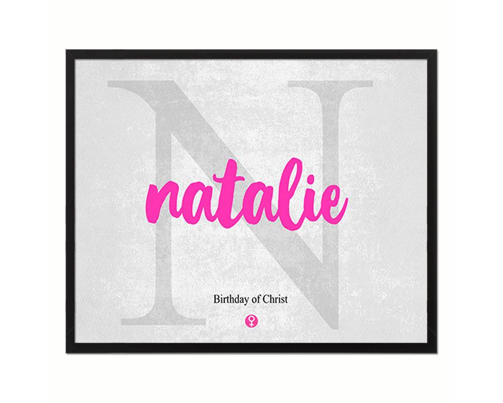 Natalie Personalized Biblical Name Plate Art Framed Print ...