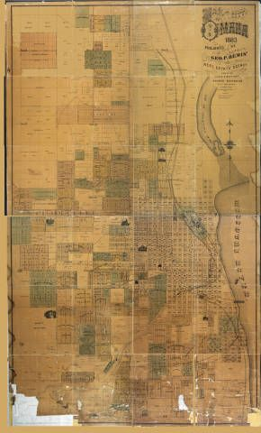 Map of the city of Omaha, 1883 :: Omaha Public Library