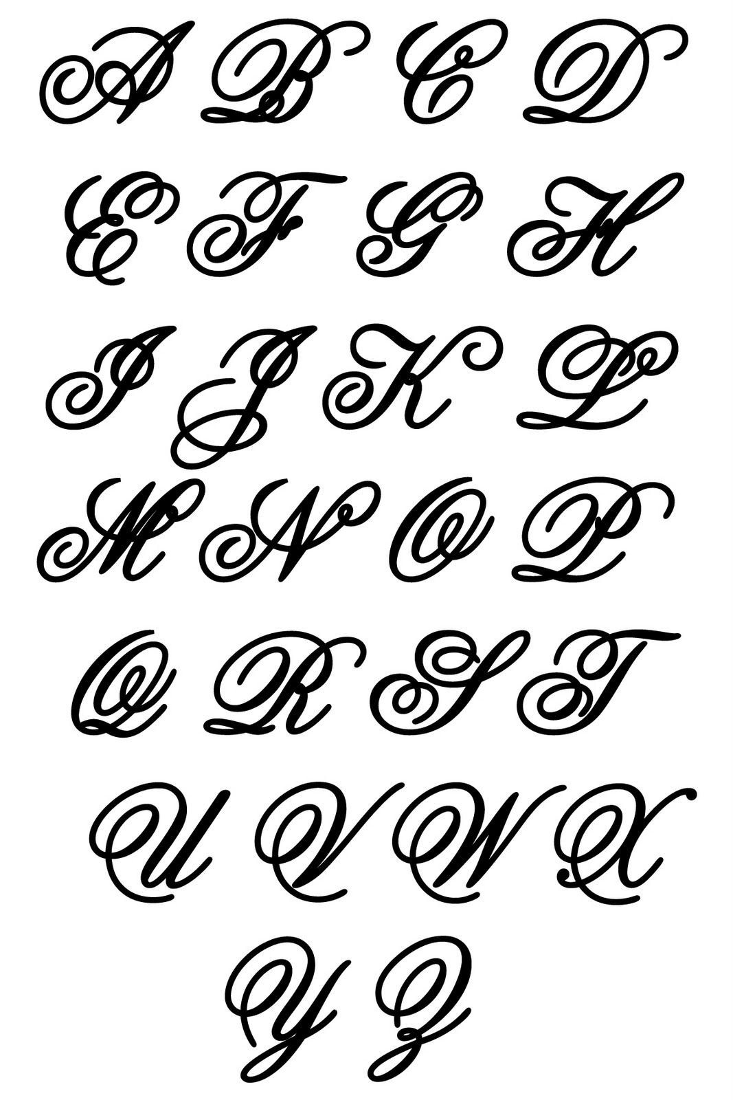 Fancy capital l triple monograms and old script alphabet