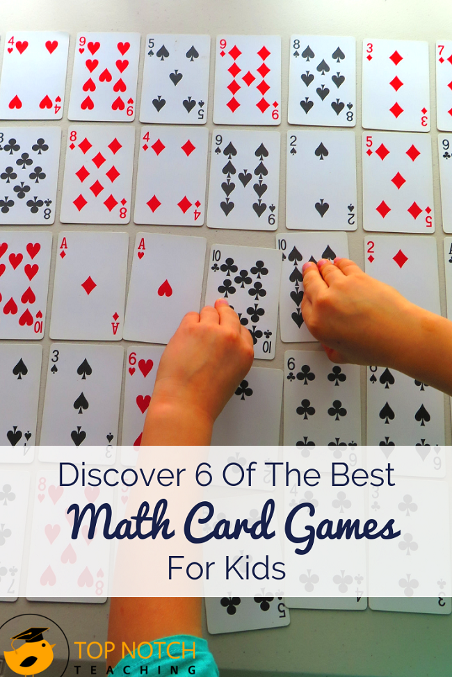Discover 6 Of The Best Math Card Games For Kids - Top Notch Teaching