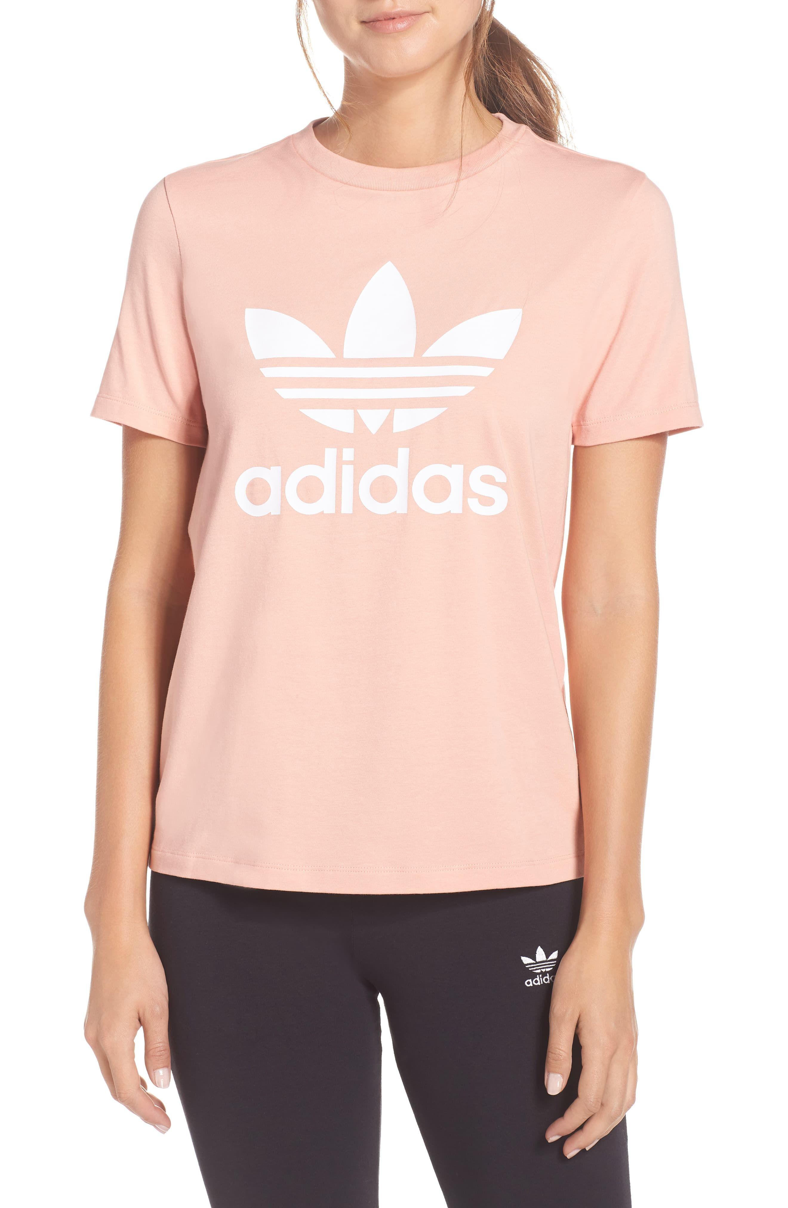 Women's Adidas Trefoil Tee, Size | Adidas shirt women, Nike