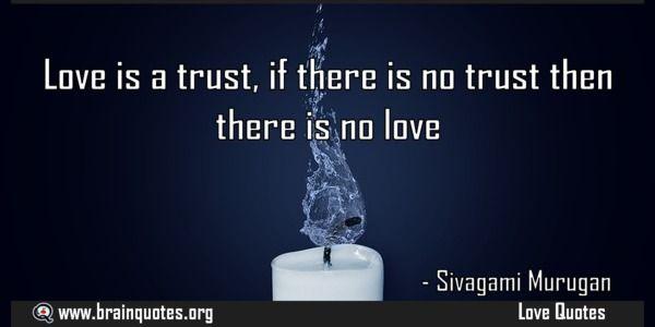 No Love No Trust Quotes