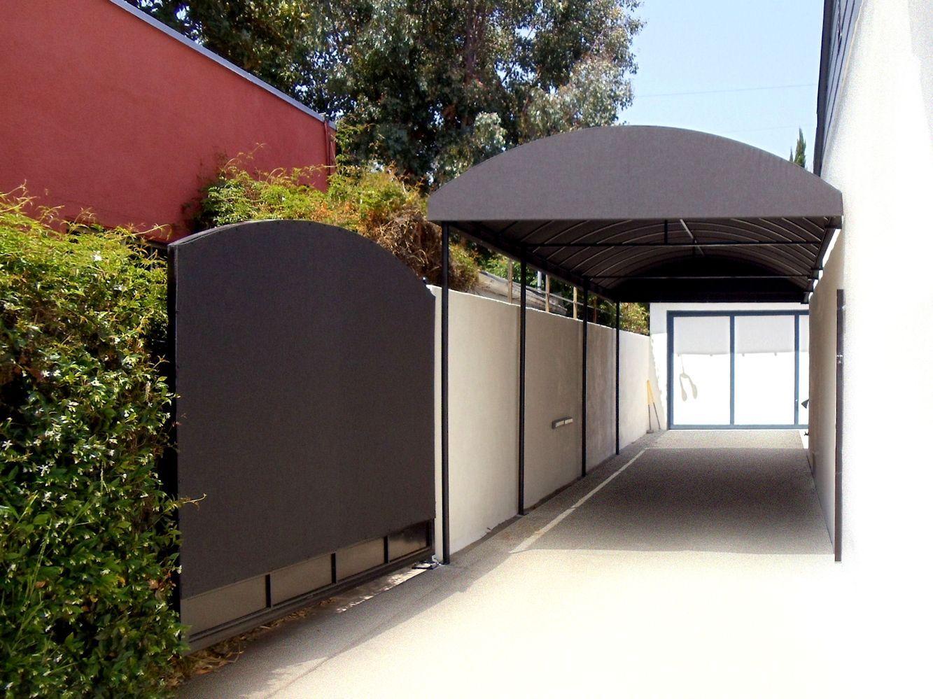 Carport with gate cover carport ideas pinterest gate for Carport gate ideas