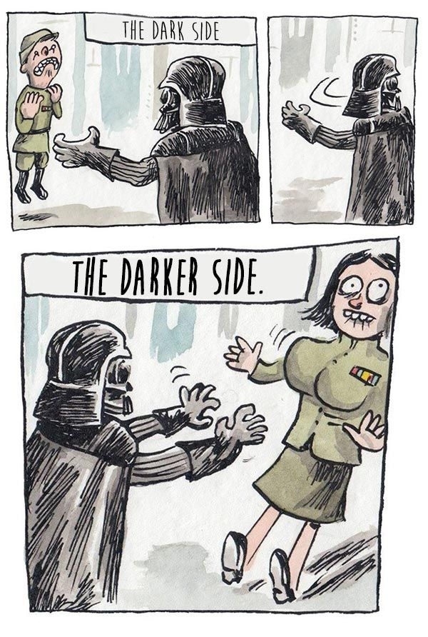 funny star wars webcomic dark force funny pictures pinterest