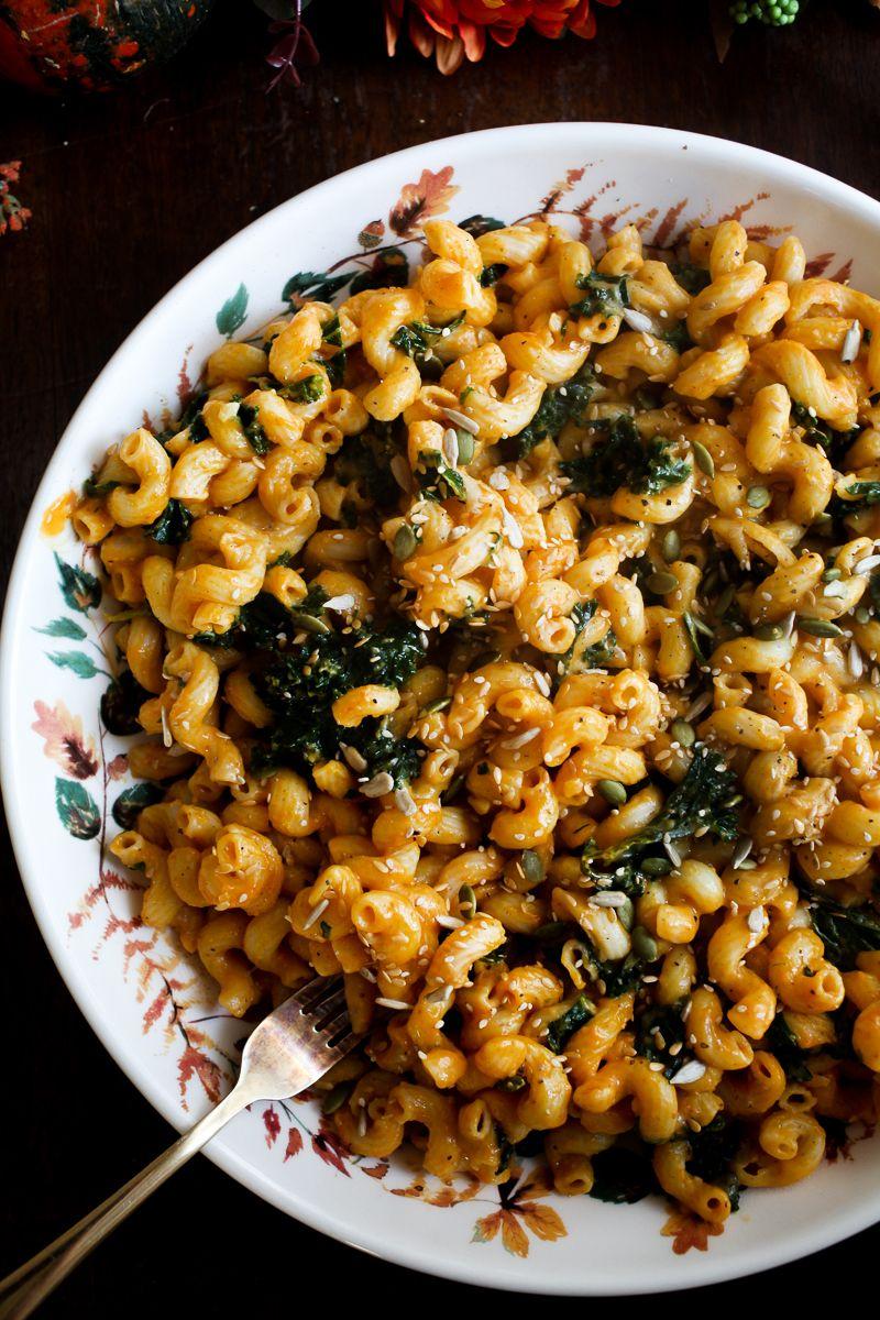 Vegan Pumpkin Mac N Cheese With Kale