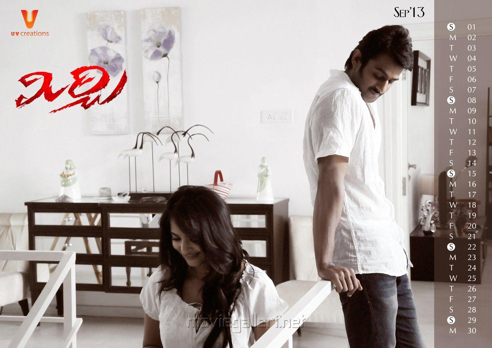 Anushka & Prabhas in Mirchi Movie 2013 Calendar Wallpapers ...