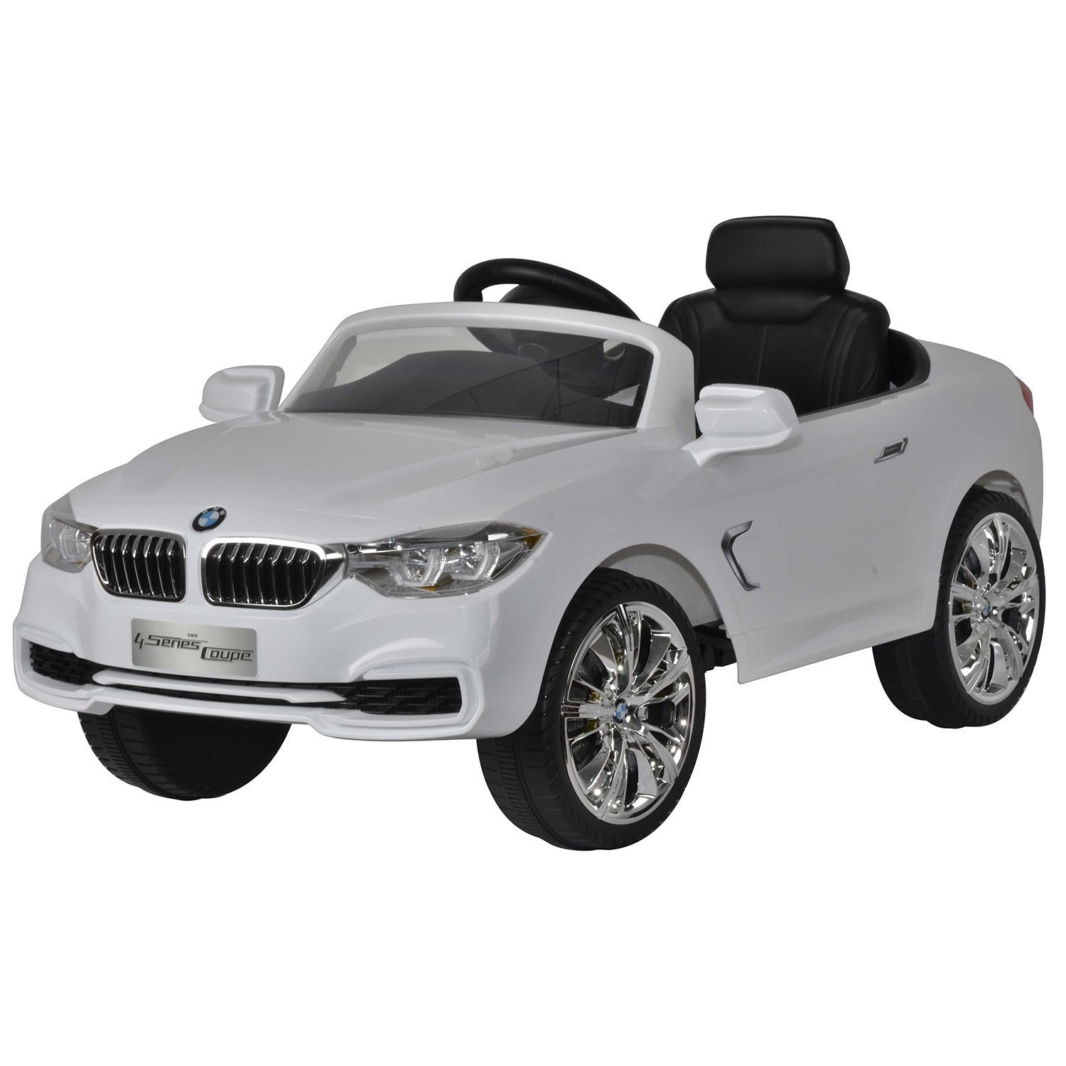 watch your child zoom into action with this white bmw 4 series toy car offering a realistic driving experience this 12v powered ride is equipped with
