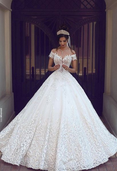 Vintage Lace Ball Gown Wedding Dresses 2016 Milla Nova Three Quarter Long Sleeves Sheer Neck Tulle Wedding Dresses with Muted Buttons   - Suppen -