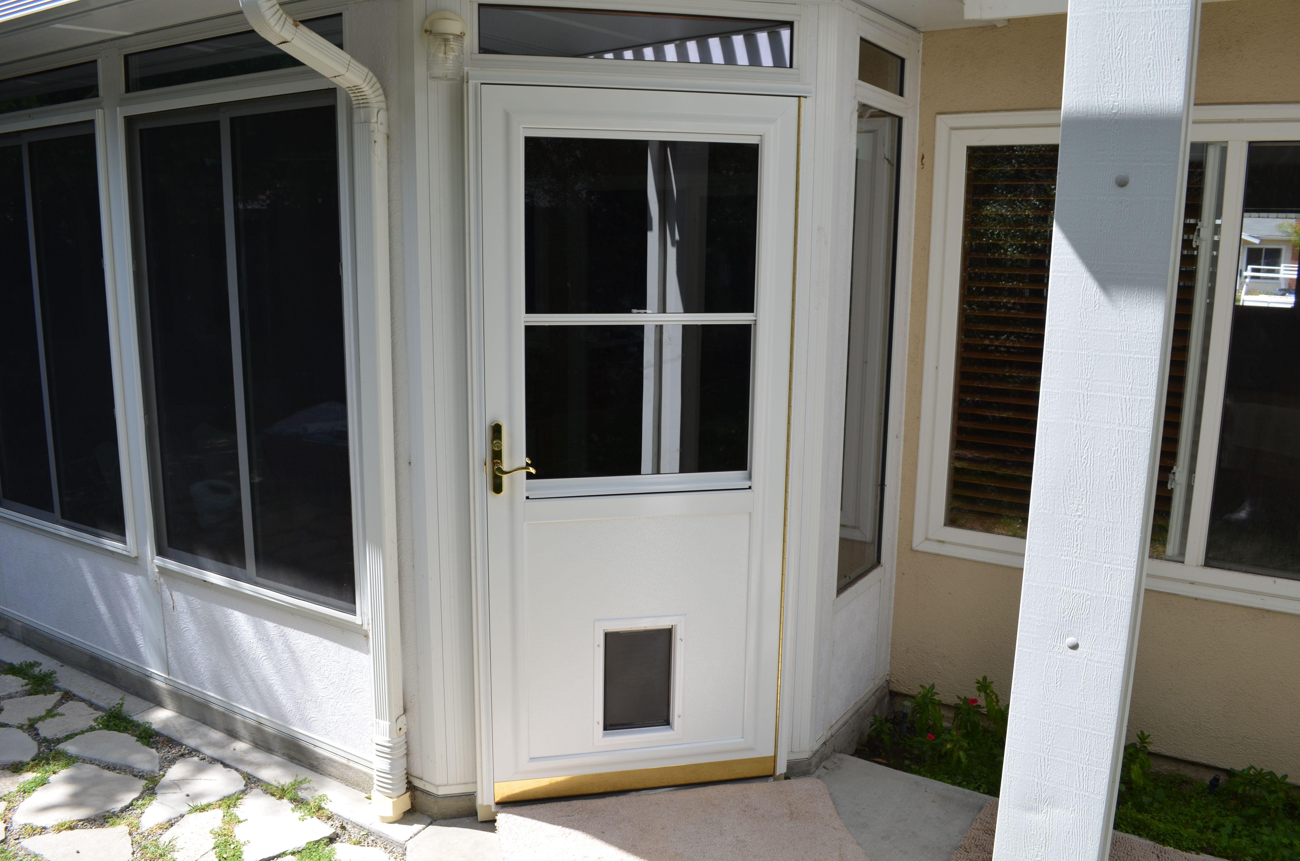 We Can Add A Pet Dog To Your Provia Storm Or Screen Door Screen Door Laundry Mud Room Back Doors