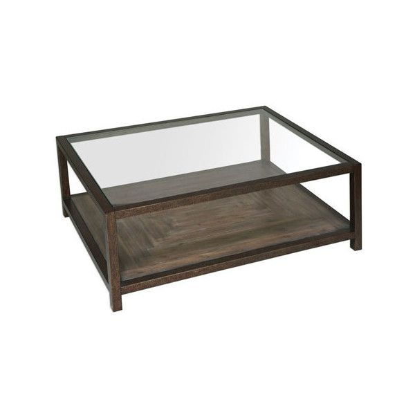 Uttermost Carter Bronze And Glass Coffee Table 38 865 Rub