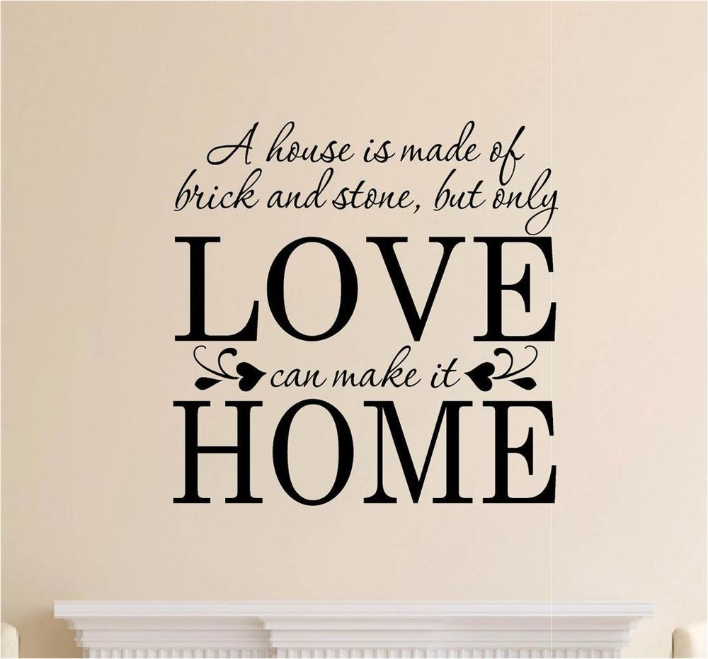A House Is Made Of Brick Amp Stone Decor Vinyl Decal Wall