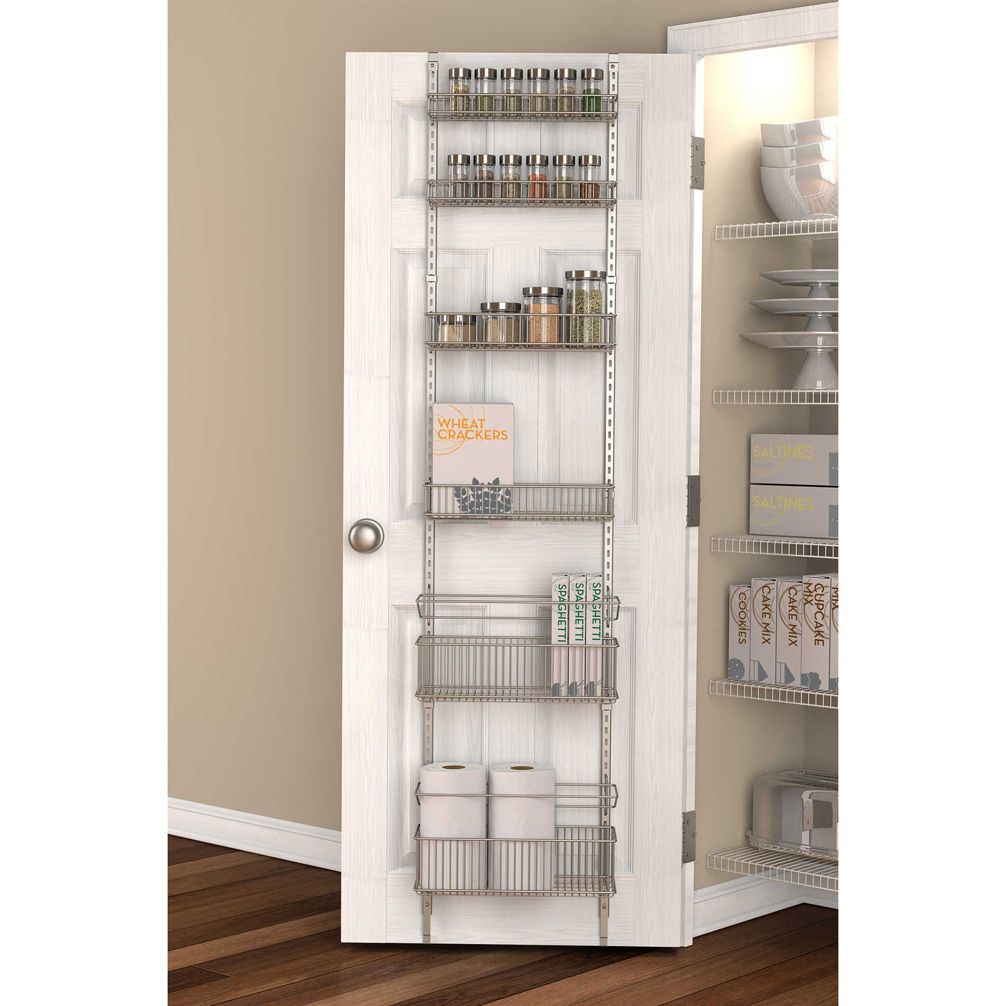 Org premium over the door steel frame pantry organizer