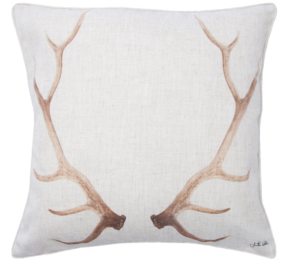 Renwil Home Decor 20 X 20 Throw Pillow Dale Rustic Deer Antler Decor Deer Antler Decor Pillows Throw Pillows