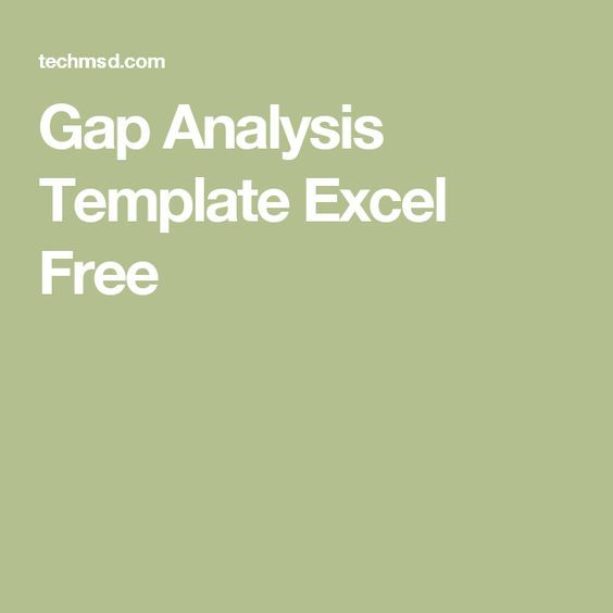 Gap Analysis Template Excel Free hacks Pinterest Template - analysis template
