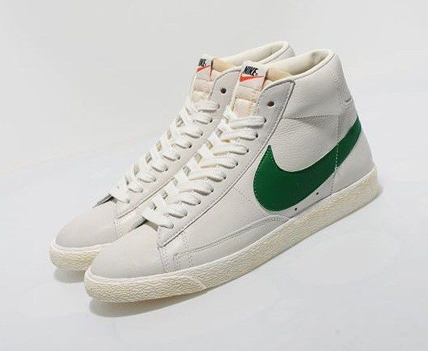 great deals 2017 cost charm cheapest price Nike-Blazer-High-Vintage-White-Green-01 in 2019 | Vintage ...
