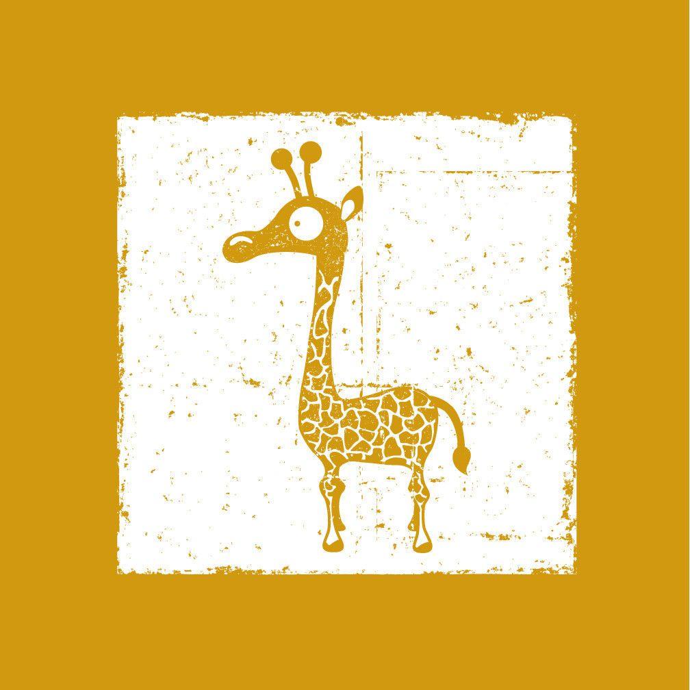 Giraffe Canvas Art, nursery, kids room, animal, yellow art print ...