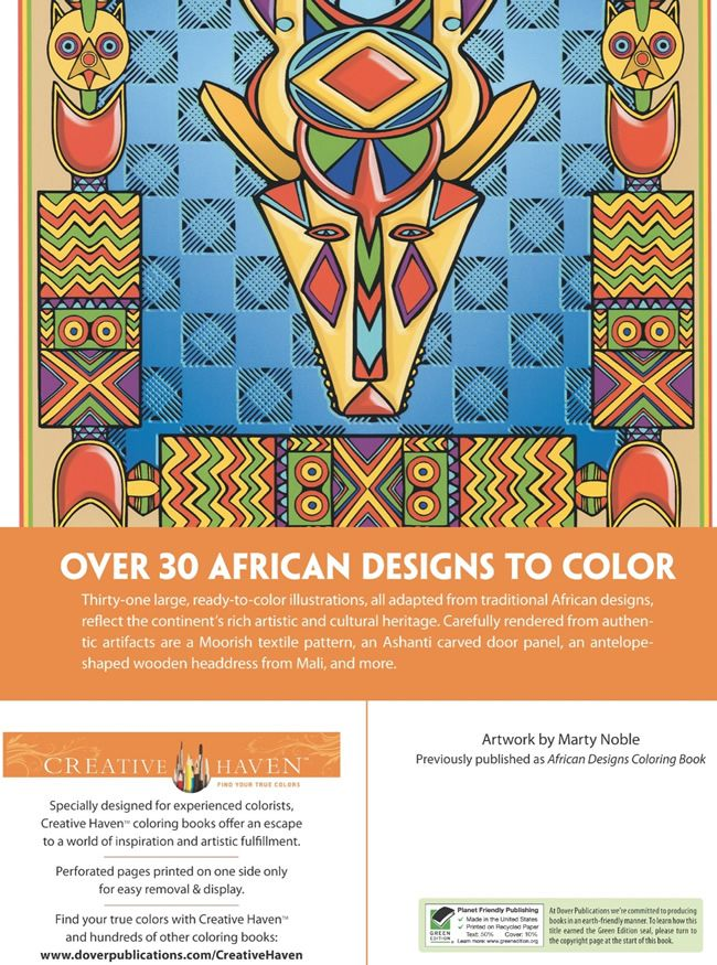 Over 30 Traditional African Masks African Masks Coloring Book