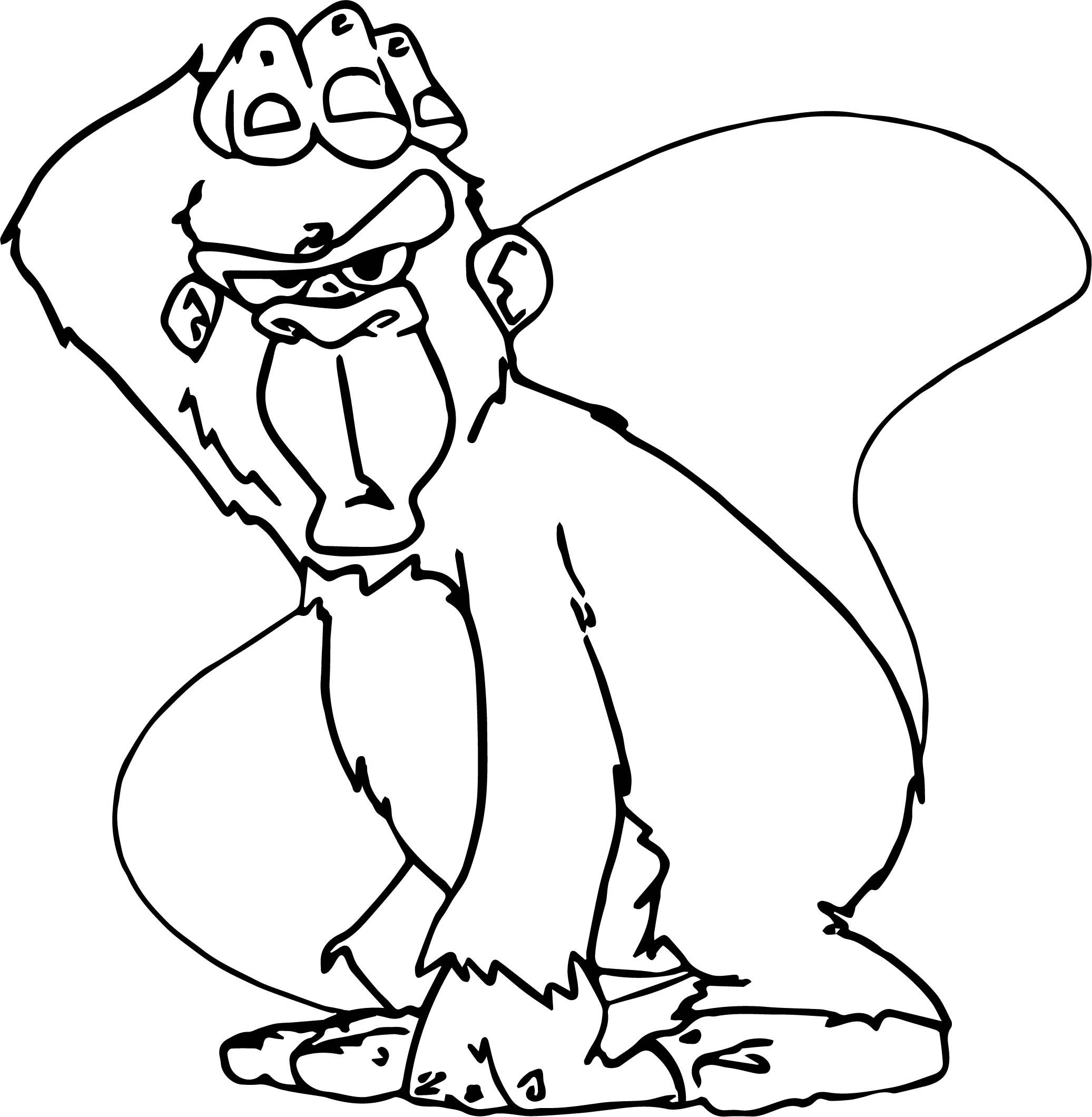 Nice Baboon Gorilla Coloring Page Baboon Coloring Pages