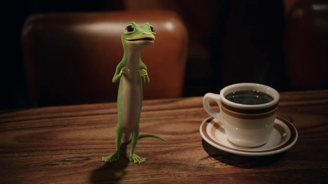 Geico the gecko visits a diner geico insurance ad