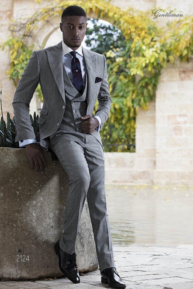ONGala 2124 - Vintage Anzug aus graue Schottenmuster