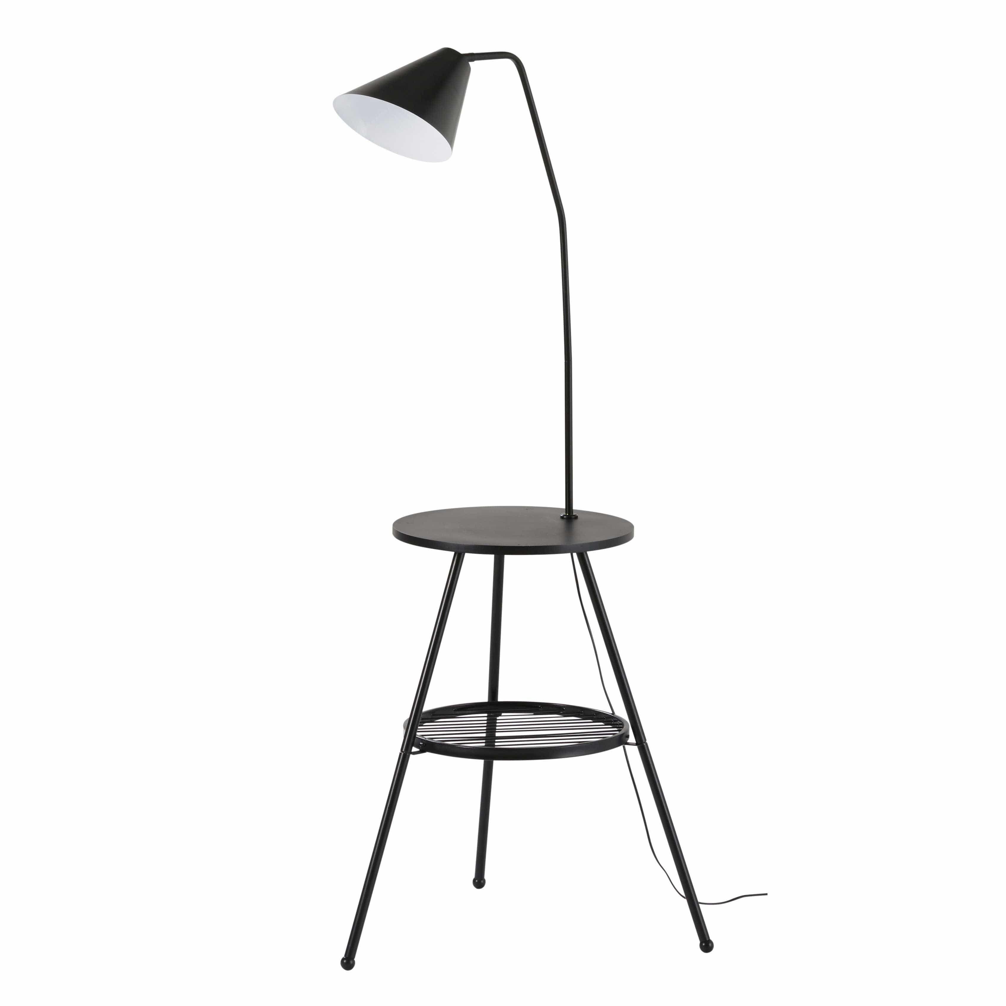Beistelltisch Mit Integrierter Lampe Aus Schwarzem Metall CARTER Jetzt  Bestellen Unter: Https://