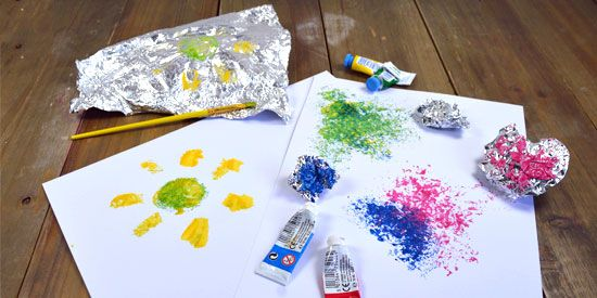 Peindre Avec Du Papier Daluminium Bricolages Arts Plastiques