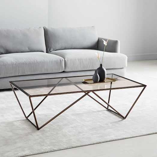 Emerald Cut Coffee Table Apt Style And Decor In 2019 Oversized