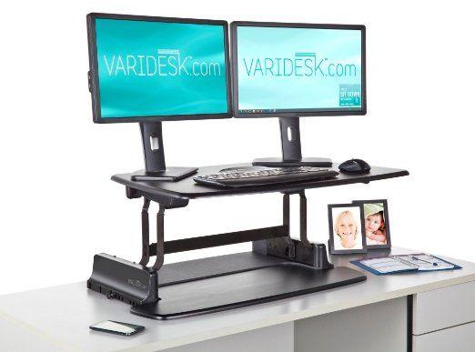 Amazon Com Varidesk Pro Computers Accessories Home Standing Desks Sit Stand Desk Desk Riser Stand Up Desk