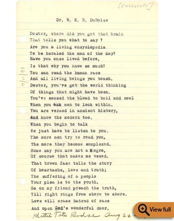 Webdubois Poems 5