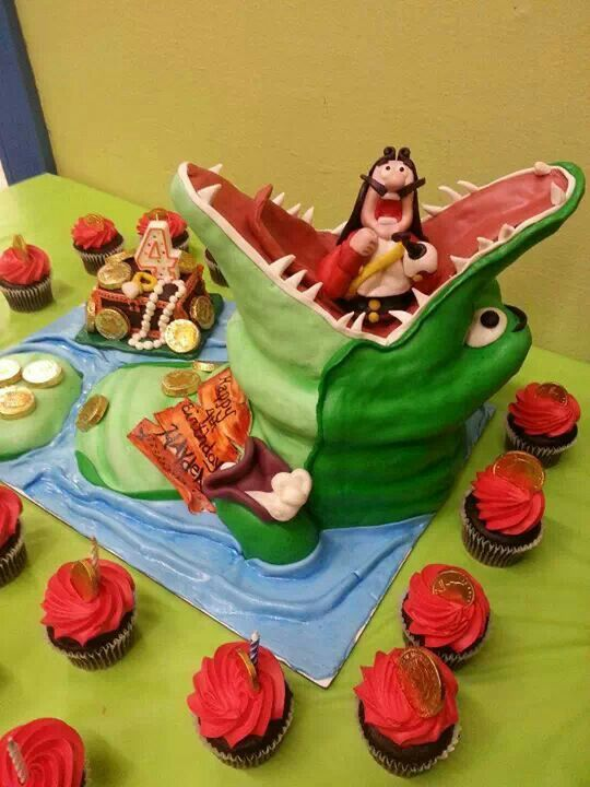 Brilliant Jake And The Neverland Pirate Captain Hook Peter Pan Crocodile Personalised Birthday Cards Arneslily Jamesorg
