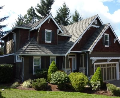 Residence Portland Or Shake Xd Pinnacle Grey Www Decra Com With Images Metal Roofing Materials House Styles Decra Roofing